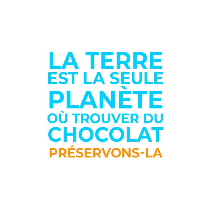 Edgee agence événementielle évènements Paris La terre est la seule planète où trouver du chocolat préservons là